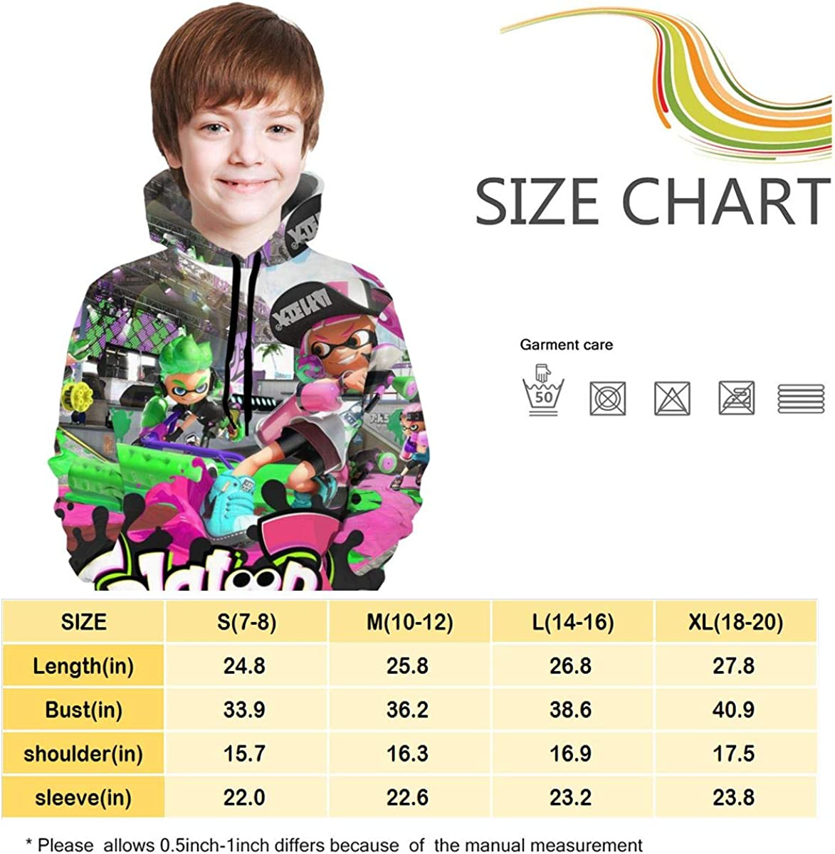 Colin Baldwin S-Pla-Toon Youth Pullover Hoodies Kids Hooded Sweate Sweatshirt for Boys Girls