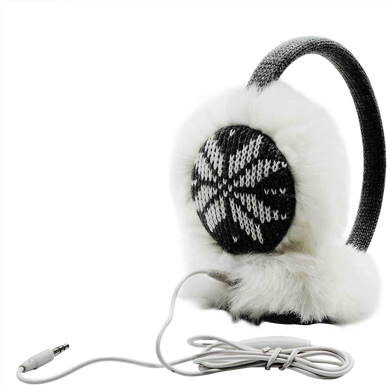 Silver White Color Name Winter Warm Ear Muffs Faux Fur Ear