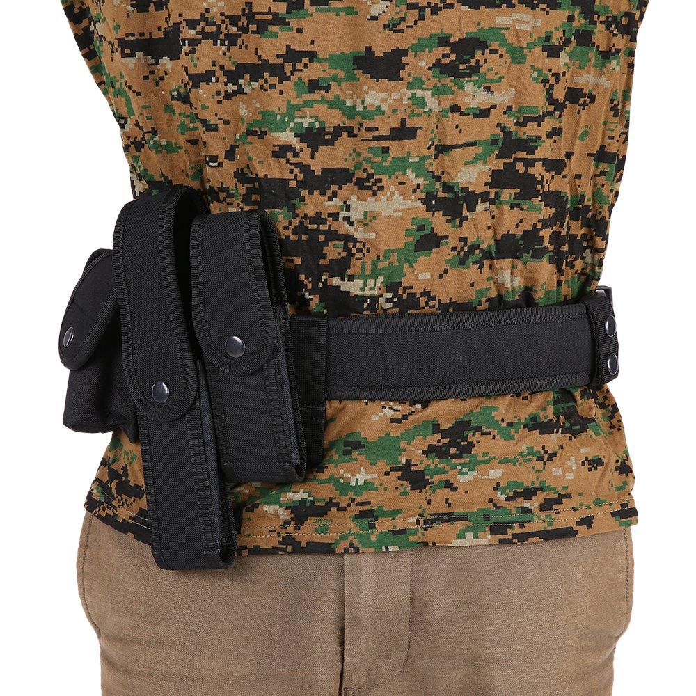 Lixada Cinturón Táctico de Ajustable Nylon Militar Utilidad Correa Kit Guardia de la Policía de Seguridad Formación: Amazon.es: Deportes y aire libre