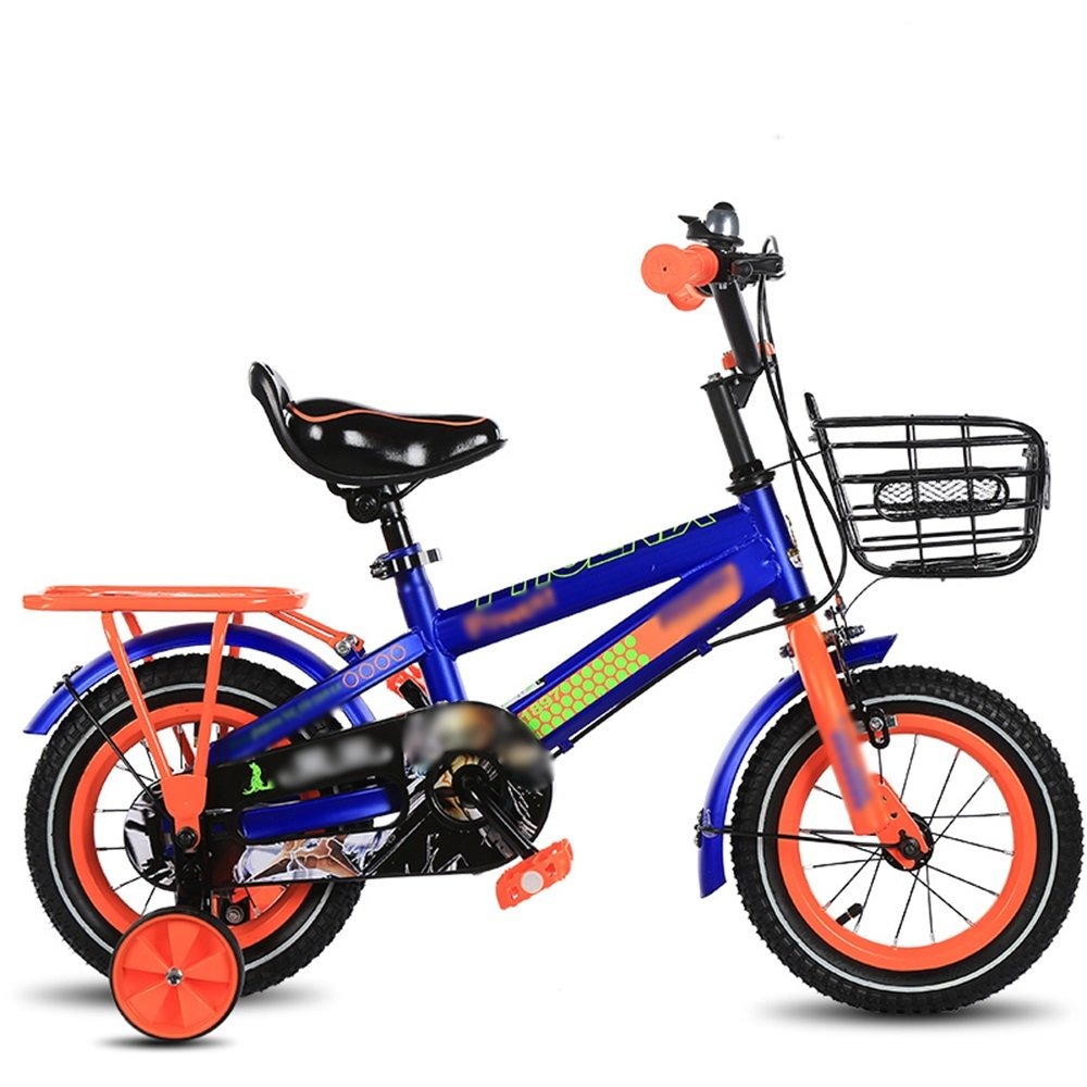 HAIZHEN マウンテンバイク キッズバイク、サイズ12インチ、14インチ、16インチ、18インチブルー、レッド、イエローベビー自転車調節可能なシートセキュリティ保護 新生児 B07CG4B9C5青 18 inch