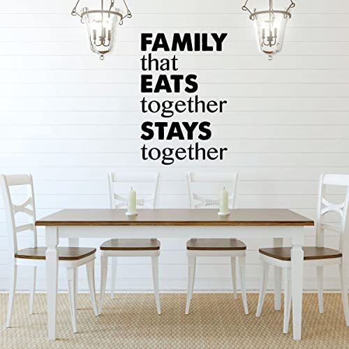 Amazon.com: Dining Room Wall Decal - Family That Eats ...