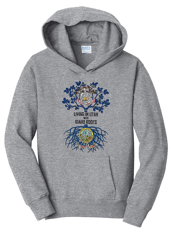 Tenacitee Girls Living in Michigan with Ohio Roots Hooded Sweatshirt