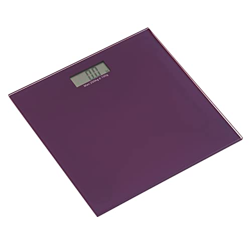 Premier Housewares Tempered Glass Bathroom Scale - Purple