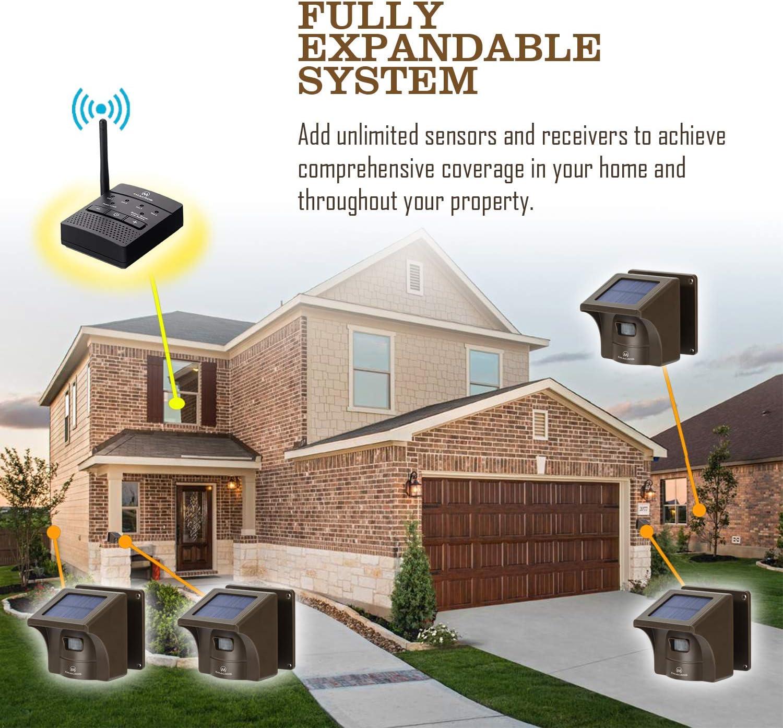 1 Receiver only Supplemental Driveway Alarm Solar Receiver