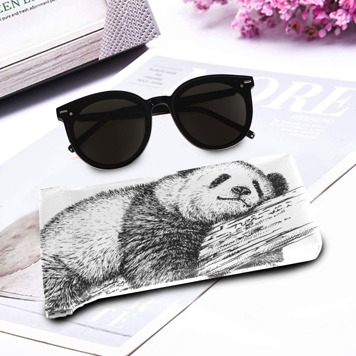 Holder Goggles Bag Eyeglasses Pouch Sunglasses Case present Cute Animal Panda Bear Multiuse Portable