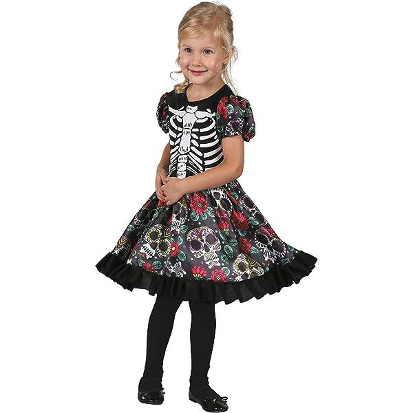 My Other Me Me-202255 Disfraz de Día de los Muertos para niña, 5-6 ...