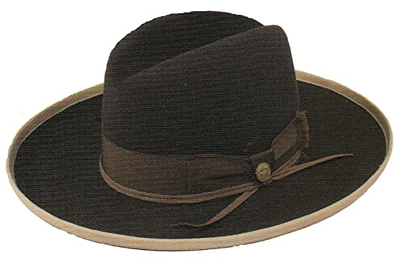 Stetson West Bound Fedora Color Chocolate Hat (7) 22665be96c6
