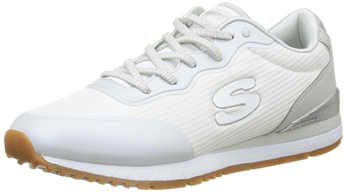 Sunlite-Vega, Baskets Enfiler Femme, Blanc (White), 38 EUSkechers