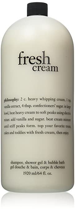 Philosophy Fresh Cream Shampoo Shower Gel Bubble Bath 64 Fl Oz Jumbo Size