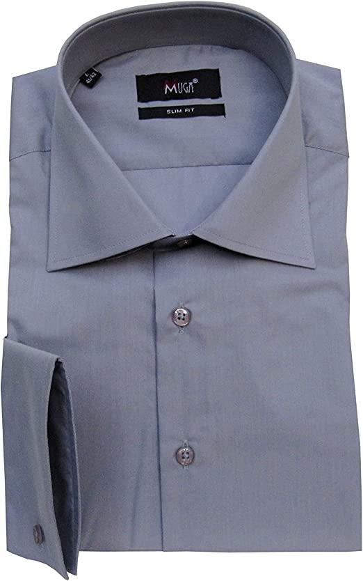 MMUGA - Camisa para Hombre con pañuelo Gris XXXL: Amazon.es: Ropa y accesorios