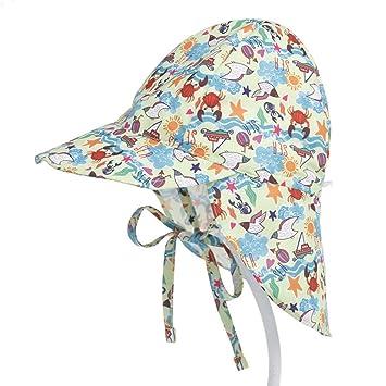04220fd36aa Baby Girls Boys Cotton Neck Sun Protection Flap Legionnaires Summer Cap Hat  0-6 Months