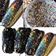 Major Dijit 12Color 0.1g/Box Galaxy Holo Flakes Bling Laser Nail Glitter Sequins Holographic Powder (color)