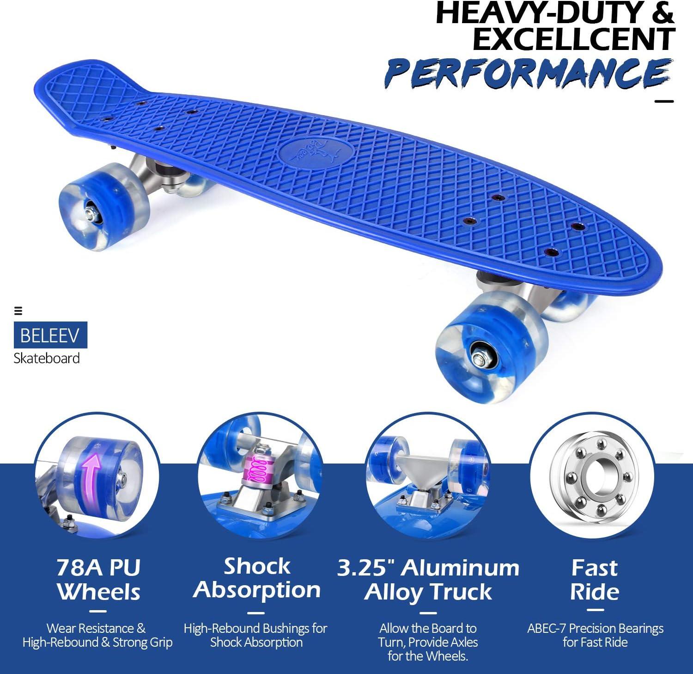 BELEEV Skateboard Complete Mini Cruiser - 2