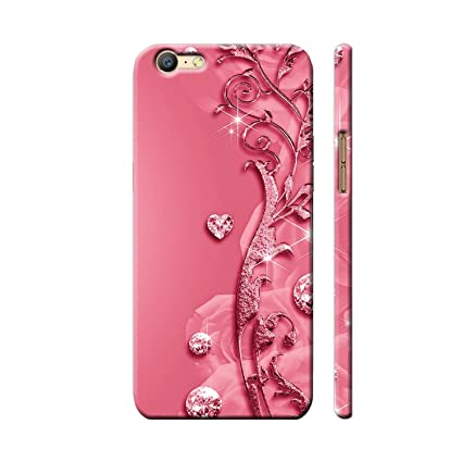 buy online 109a1 858fb Clapcart Oppo A57 Designer Printed Back Cover for Oppo A57 / Oppo A 57 -  Pink Color (Heart Design Print for Girls)