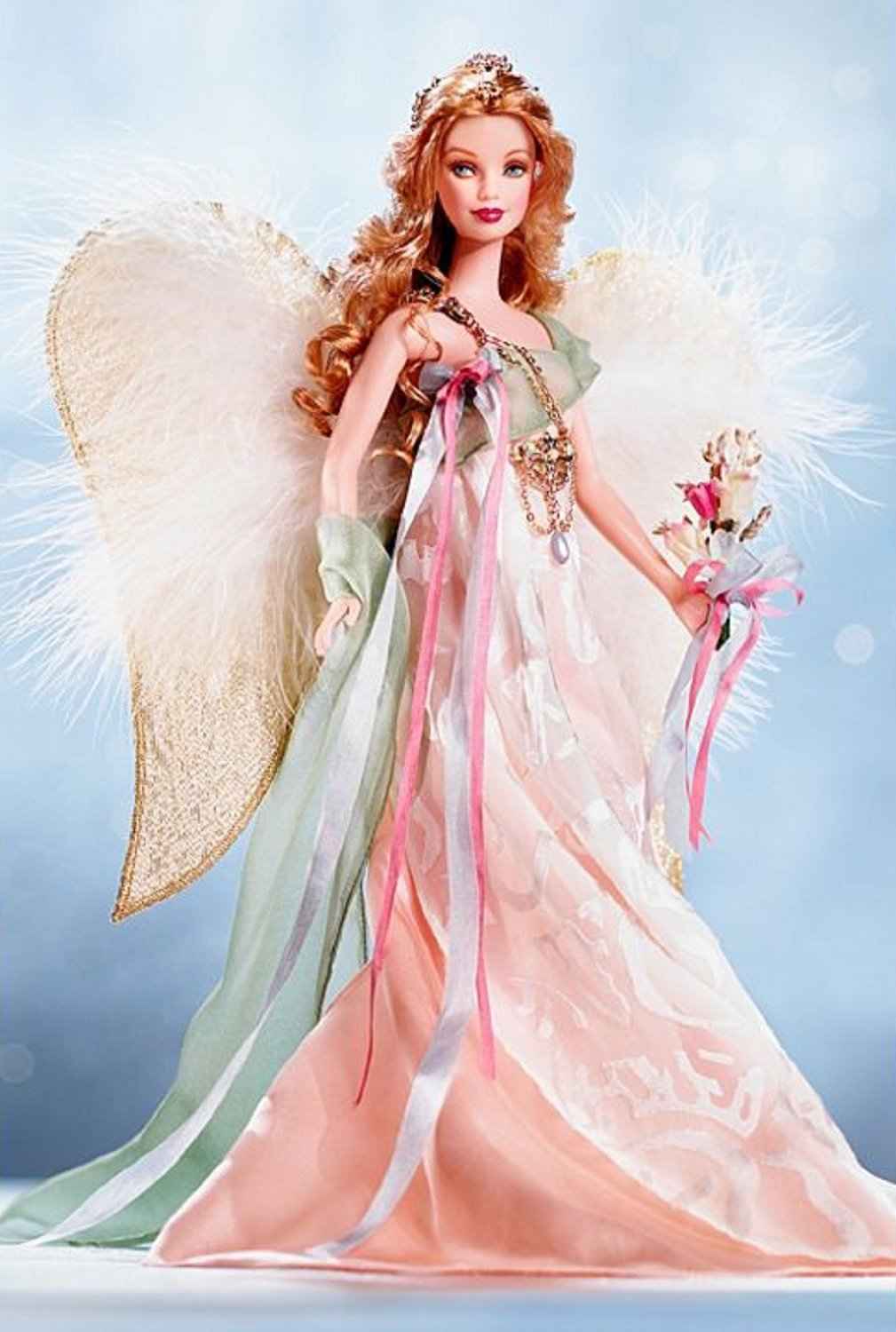 Amazon.com: Barbie Collector Golden Angel Barbie Doll: Toys & Games