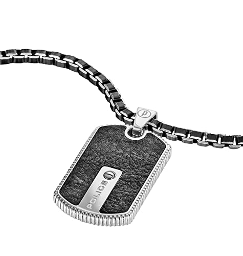 necklaces necklace silver gemini mens police steel