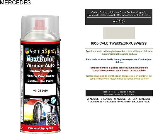Spraydose Mercedes 9650 Calcitweiss Zirrusweiss Autolack In Originalfarbe Des Herstellers 400 Ml Auto