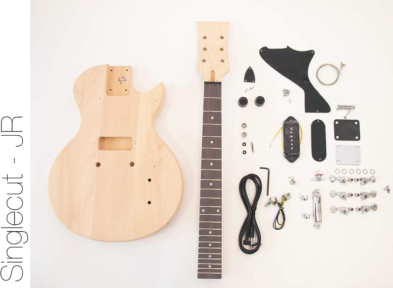 El kit de guitarra eléctrica DIY FretWire Singlecut JR P90 ...