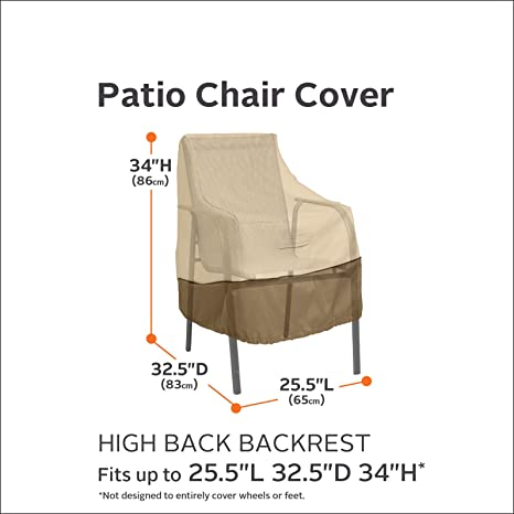 Amazon.com : Classic Accessories Veranda High Back Patio Chair Cover : Patio  Furniture Set Covers : Patio, Lawn U0026 Garden