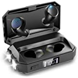 Wireless Earbuds with Flashlight, Touch Control Bluetooth 5.0 Headphones with Charging Case Waterproof in-Ear Earphones, Pass