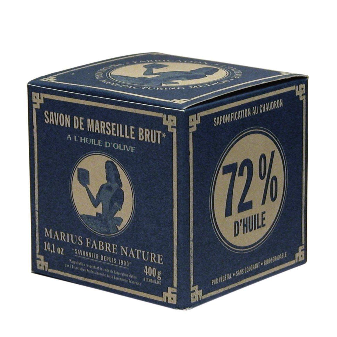 Im blauen Nostalgiekarton: 400g echte Marseiller Kernseife (Würfelseife) aus 72% Olivenöl BeautyCentre MA400G/W