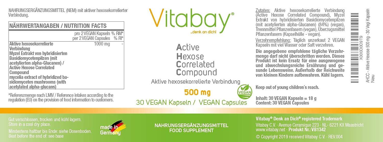 Compuesto de monosacárido AHC: compuesto activo correlacionado con hexosa - 500 mg activo - Cápsulas de 30 Veg.: Amazon.es: Salud y cuidado personal