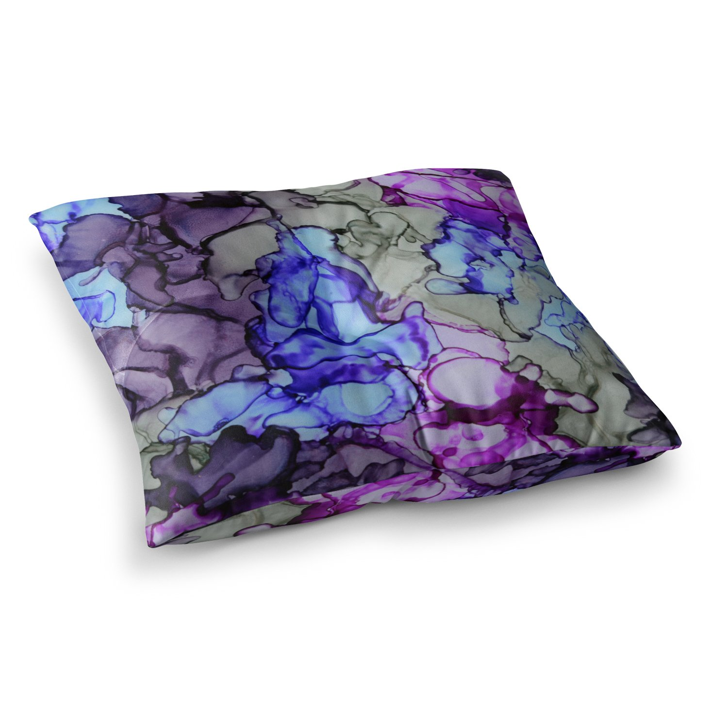 80 by 60-Inch Kess InHouse Claire Day Violet Blue Purple Fleece Throw Blanket 80 X 60