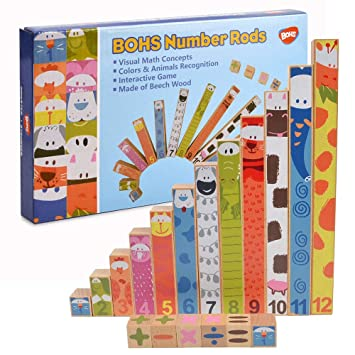 Montessori Math Concepts Sticks,Addition,Subtraction Calculation Learning ,Preschool Math Toys
