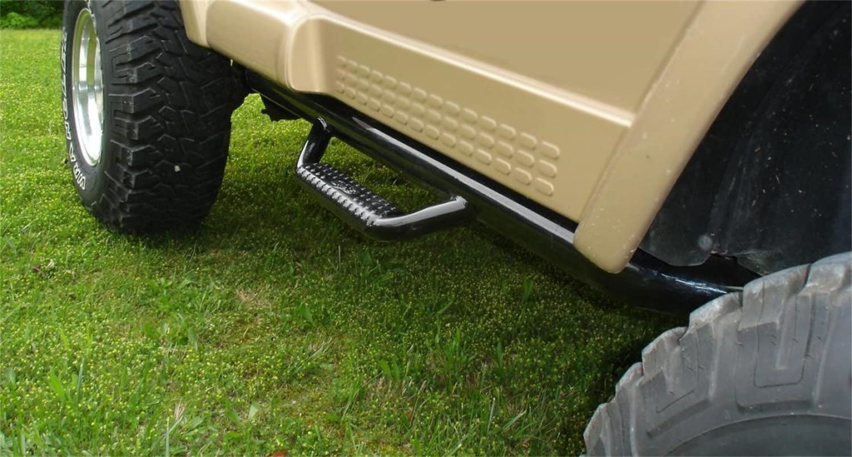 N-FAB J9746 Gloss Black Nerf Step; Wheel 2 Wheel Jeep Wrangler TJ BJ  97-06