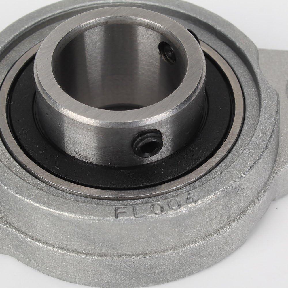 Silber Zinklegierung Flanschlager Lager 20mm Innendurchmesser