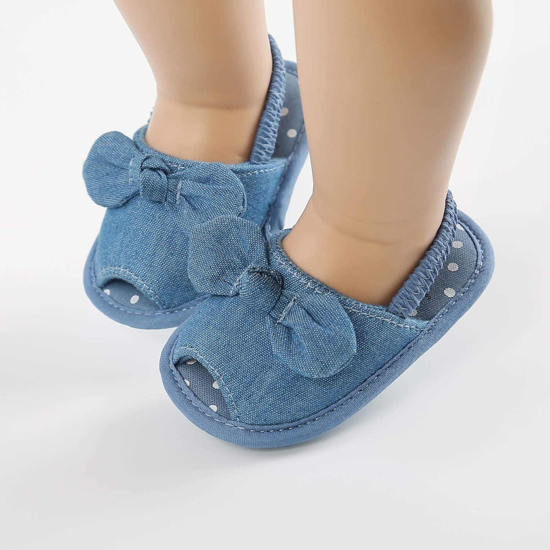 Unisex Baby Boys Girls Shoes Sandal Infant Summer Flats Premium Soft Rubber Sole Anti Slip Crib Toddler First Walker Shoes