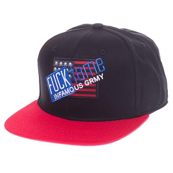 GRIMEY Gorra Fuck Fame FW16 Black-Strapback: Amazon.es: Ropa y ...