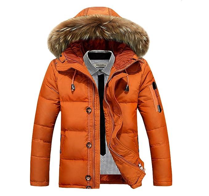 Amazon.com: Chaqueta de invierno para hombre, estilo cálido ...