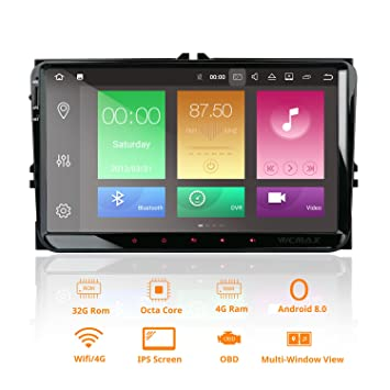 Android 8 0 Oreo Octa-core Car Stereo 9 Inch Capacitive touch screen (IPS  panel) for VW Golf Polo