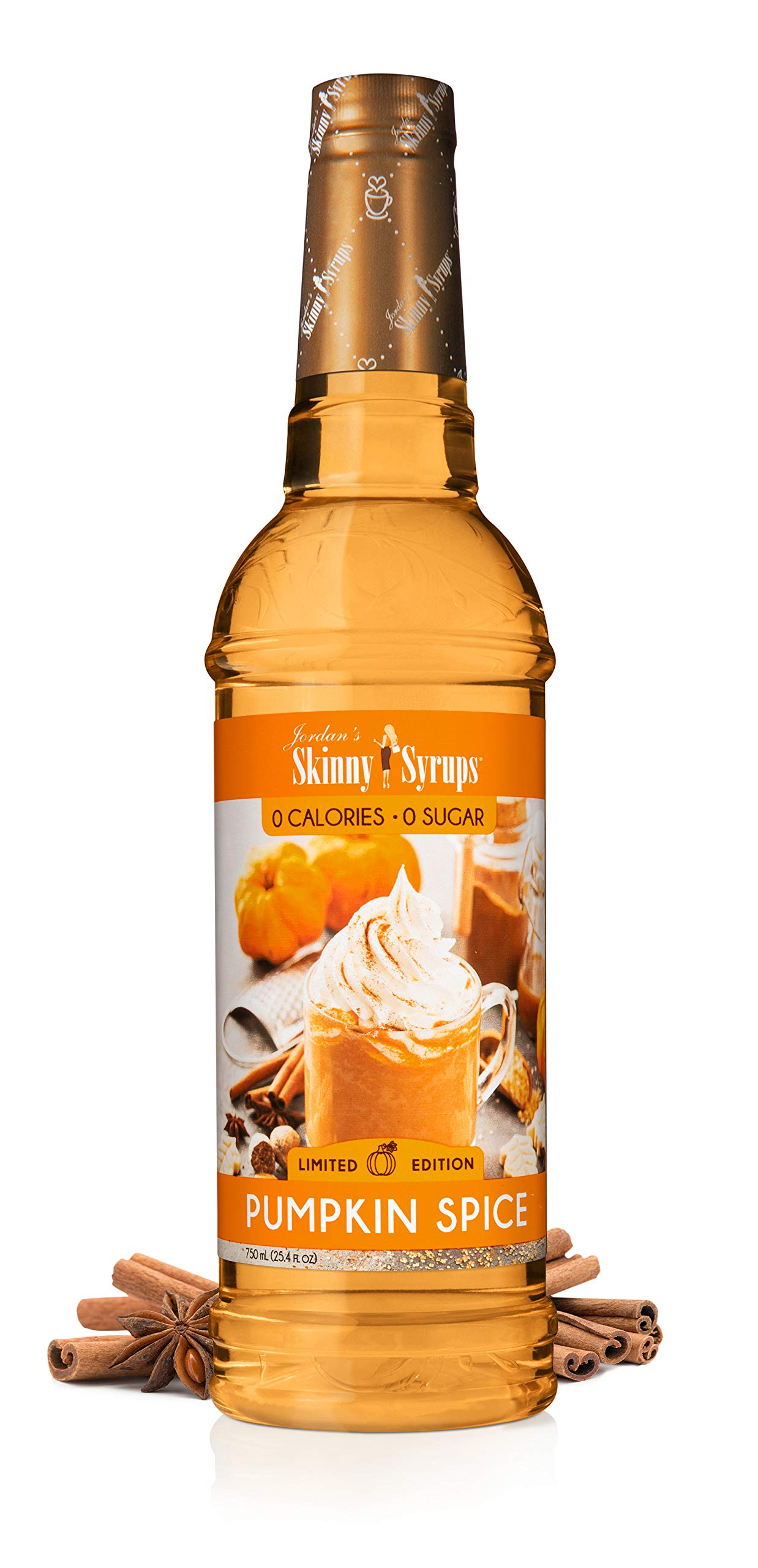 Jordan's Skinny Mixes Sugar Free Coffee Flavoring Syrup, Pumpkin Spice 25.4 Fl Oz