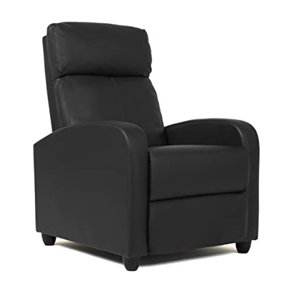 Admirable Fdw Leather Single Modern Sofa Home Theater Seating For Living Room Black Short Links Chair Design For Home Short Linksinfo