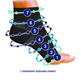 4 Socks, Plantar Fasciitis Compression Sleeves (2 PAIR) - 2 White and 2