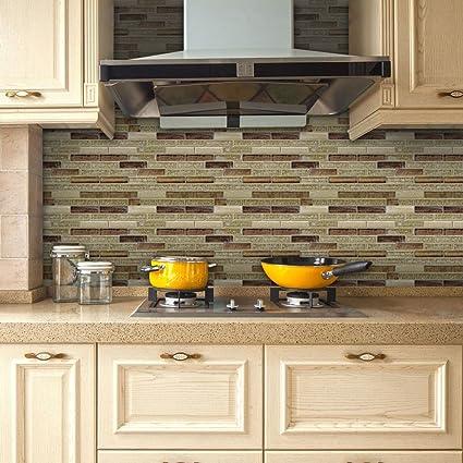 Amazon Com Vancore 3d Mosaic Sticker Home Decor Backsplash