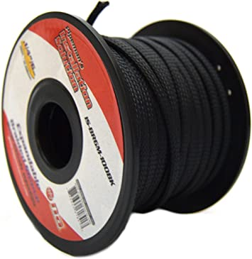 Amazon.com: BLACK 1/4 100FT BRAIDED EXPANDABLE FLEX SLEEVE WIRING HARNESS  LOOM WIRE COVER: Home ImprovementAmazon.com
