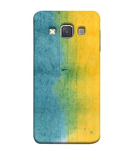Printfidaa Samsung Galaxy A5 Duos 2015 Back Cover Yellow And SkyBlue Mixed Fabric Pattern