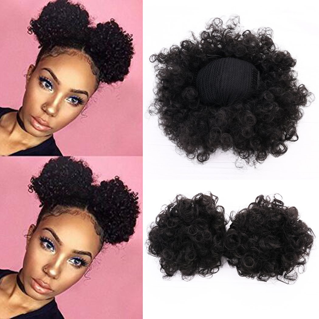 Amazon vgte beauty synthetic curly hair ponytail african miss rola synthetic hair bun extension donut chignon hair hairpieces wig updo hair bunclip pmusecretfo Images