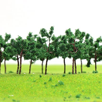 Amazoncom D5027 40pcs Model Trees 50mm196 Inch N Ho Scale Train