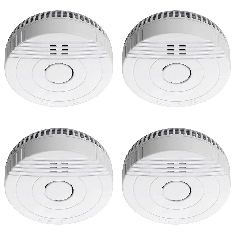 Sebson 4X Detector de Humo, Batería de Larga Duración 5 Años, DIN EN 14604, Detectores fotoeléctricos de Humo GS536GC, Alarma de Incendios: Amazon.es: Hogar