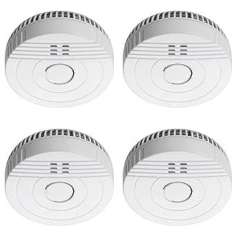 Sebson 4X Detector de Humo, Batería de Larga Duración 5 Años, DIN EN 14604