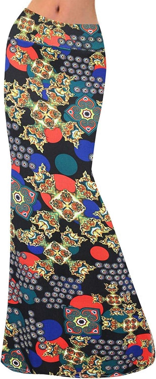 Womens Skirts High Waisted Bodycon Skirts Boho Maxi Evening Party Dress Floral Snake Skin Leopard Print Beach Skirt Gift