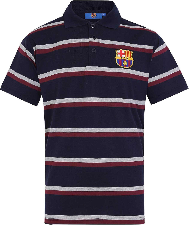 FCB FC Barcelona - Polo Oficial Para Hombre - A Rayas - Azul ...