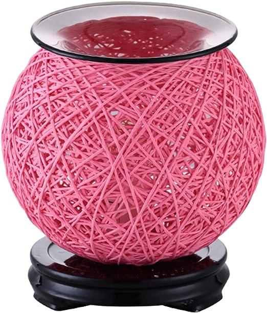アロマディフューザー ガラス香炉オイルディフューザー電気キャンドルウォーマーガラスワックスメルトアロマインテリア新鮮な空気 (Color : A)