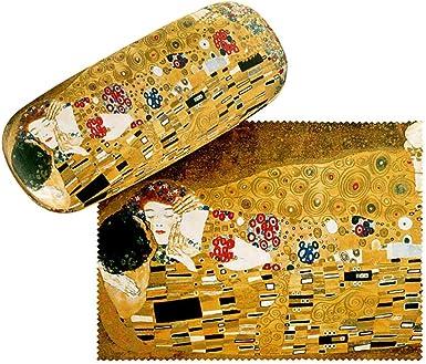VON LILIENFELD Estuche Gafas Funda Ligeramente Estable Colorido Regalo Mujer Motivo Arte Gustav Klimt: El beso: Amazon.es: Ropa y accesorios