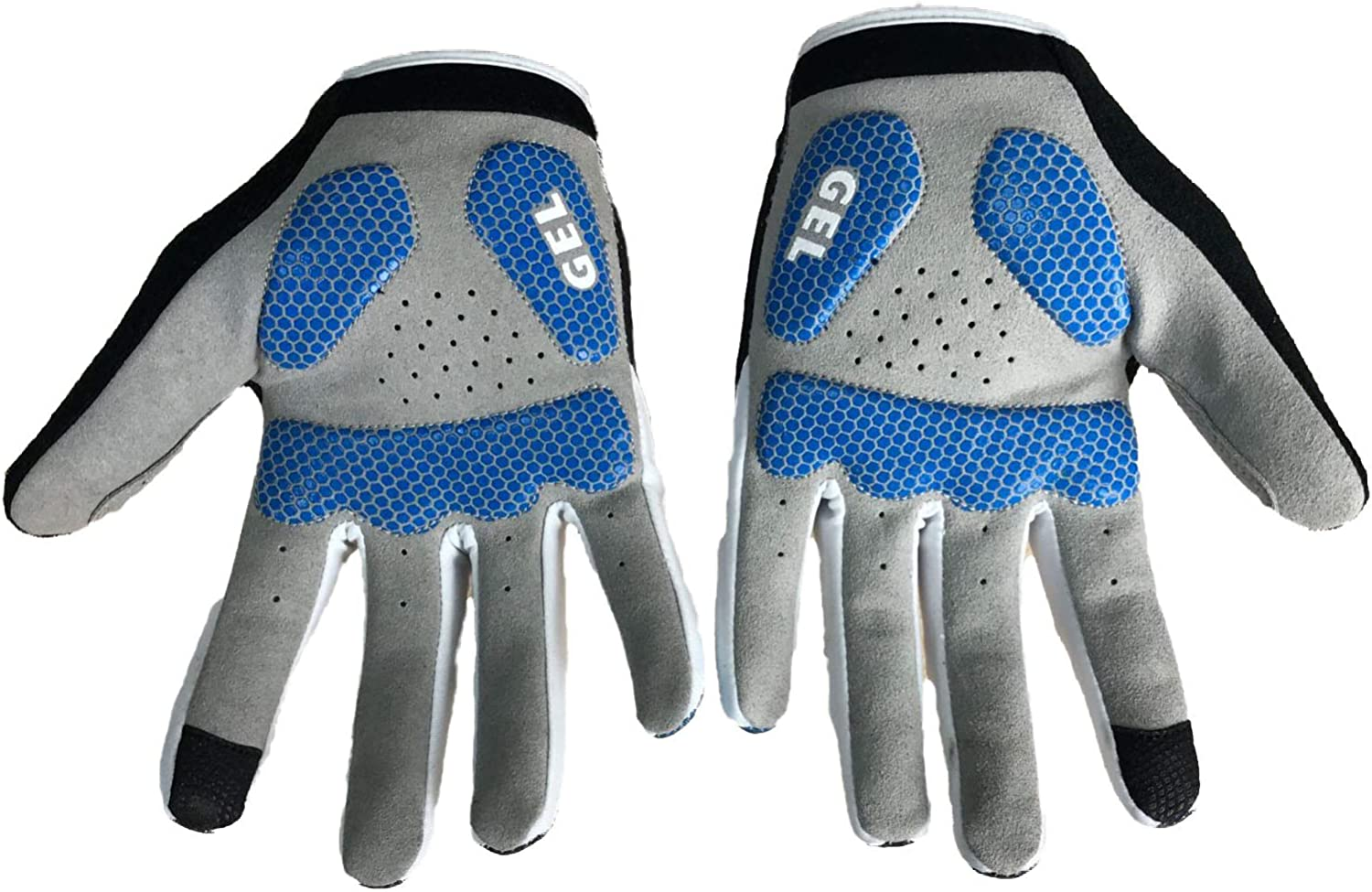 JPOJPO Full Finger Cycling Gloves for Men Women,Bike Gloves with Touch Screen Function 3D Gel Palm Pad