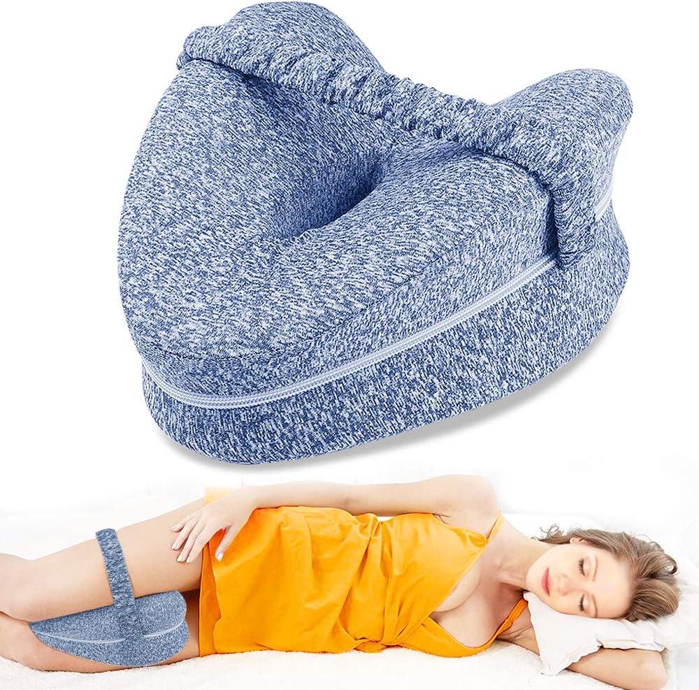 Almohada para rodillas Dormir Leg Pillow Dispositivo M/édico Suave Almohada Memory Foam para Piernas Ayuda Posici/ón Correcta para Dormir contra Dolor de espalda y Problemas Posturales para Embarazo